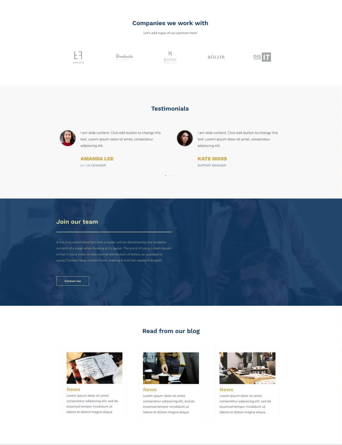 Financial advisor website preview gallery 3