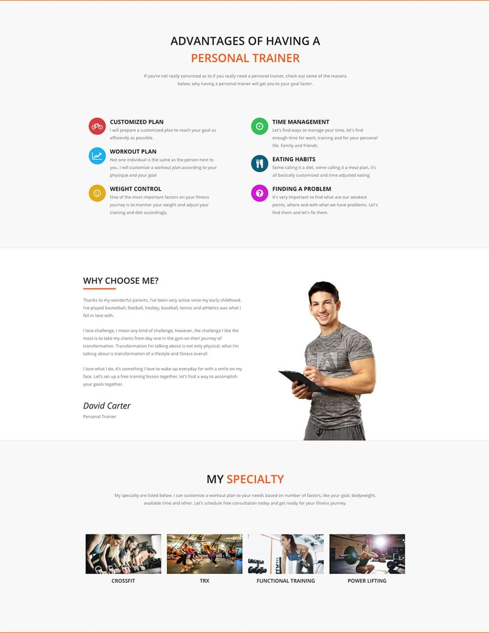 Personal Fitness Trainer Website - template preview 2