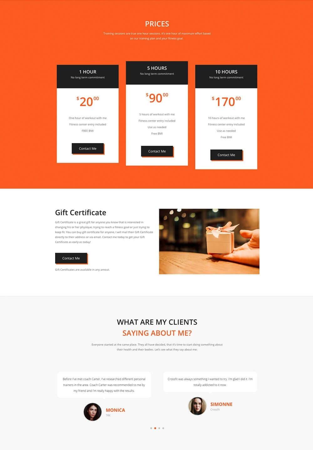 Personal Fitness Trainer Website - template preview 3