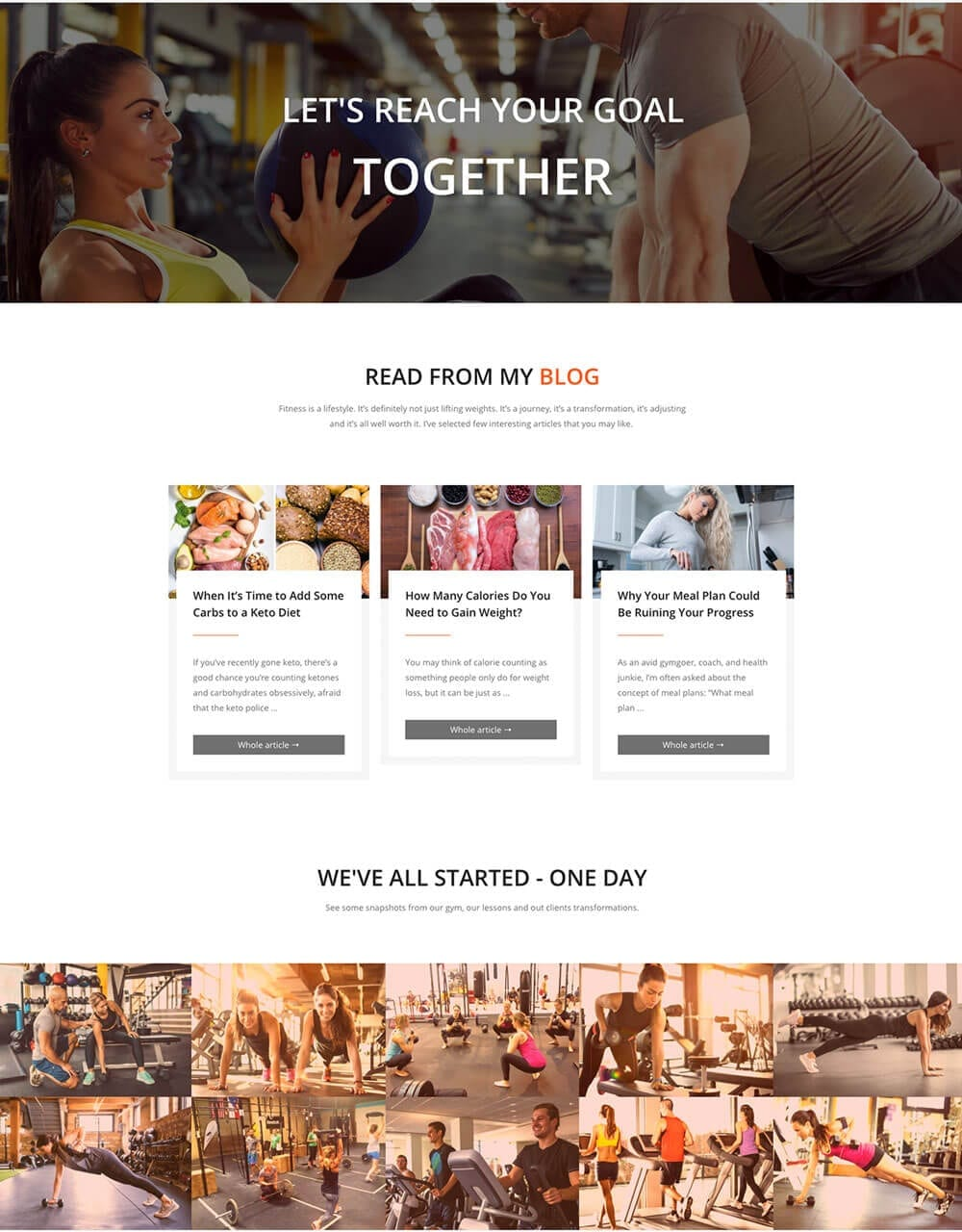 Personal Fitness Trainer Website - template preview 4