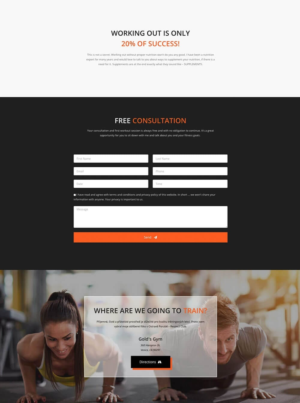 Personal Fitness Trainer Website - template preview 5