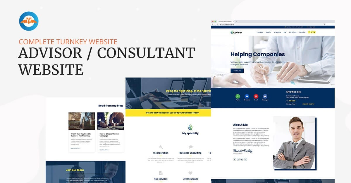 Advisor consultant - complete turnkey website