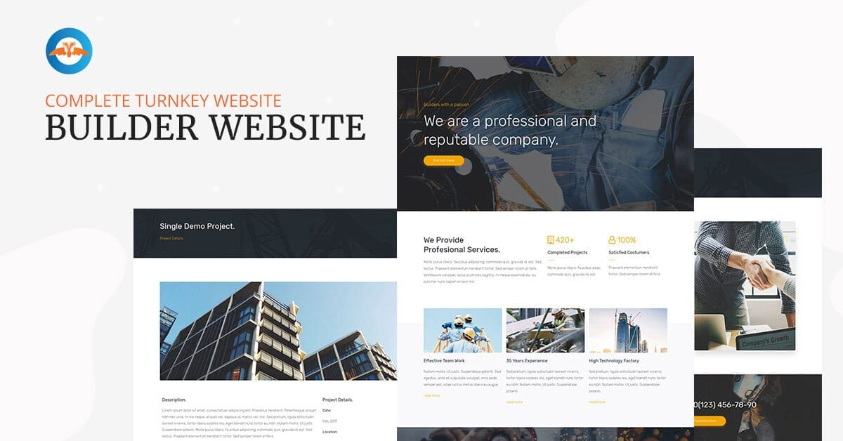 Builder website - complete turnkey website