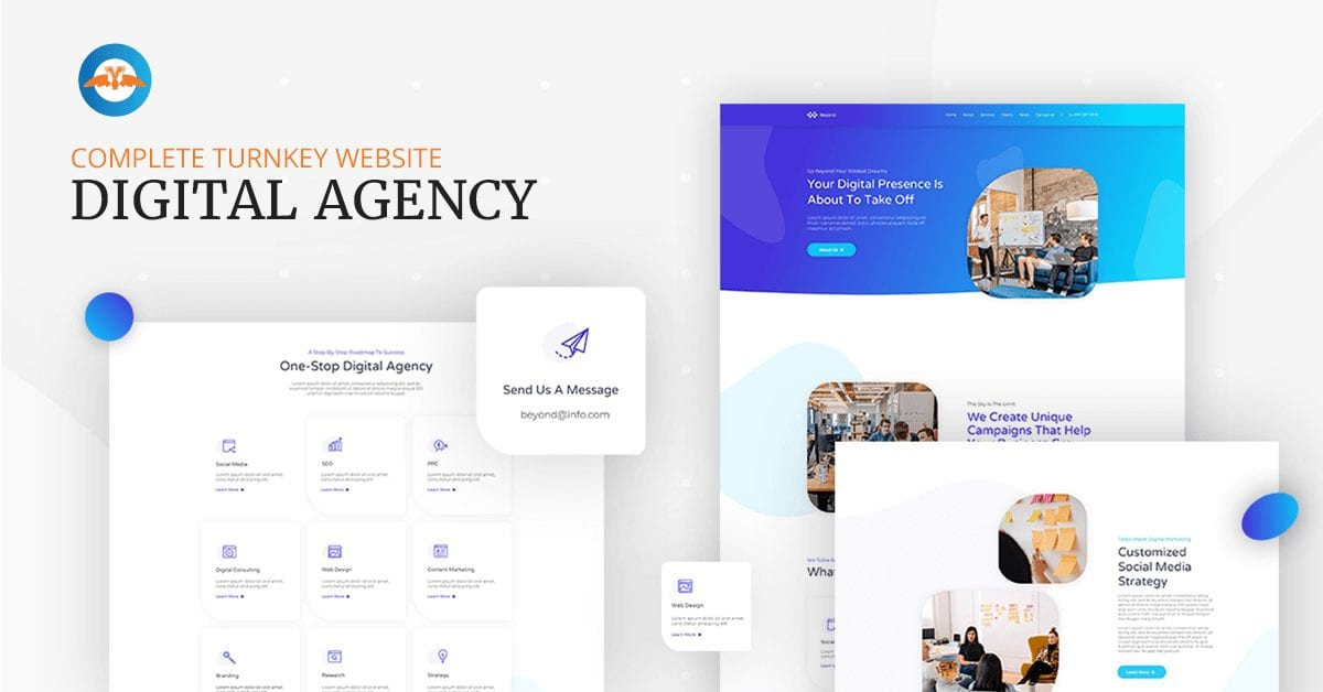 Complete turnkey website for digital agency