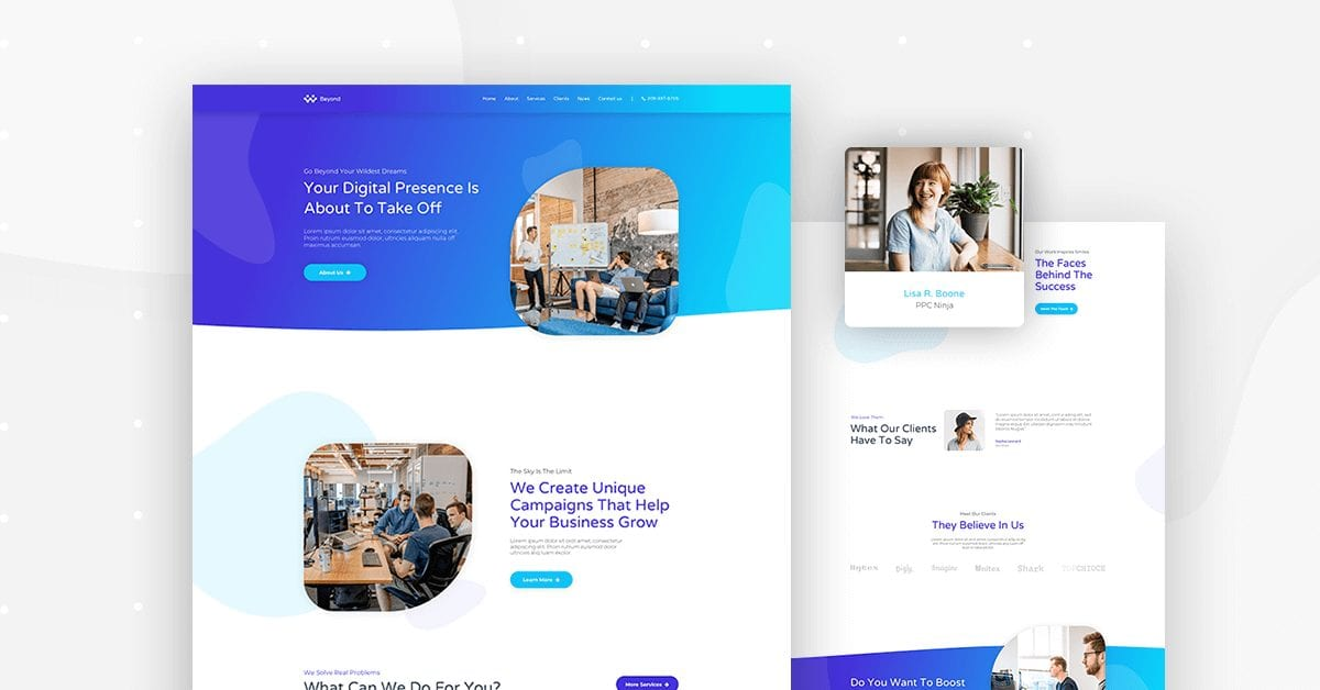 Digital agency - home page preview