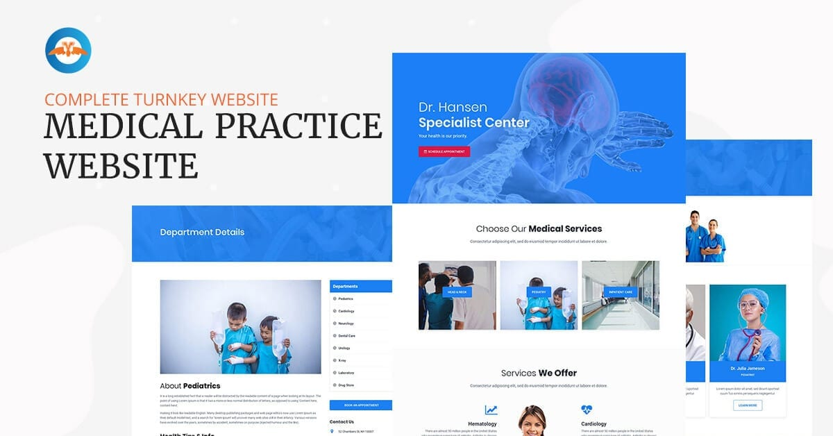 Medical practice website - turnkey complete website