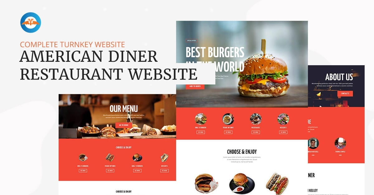 American diner restaurant business website