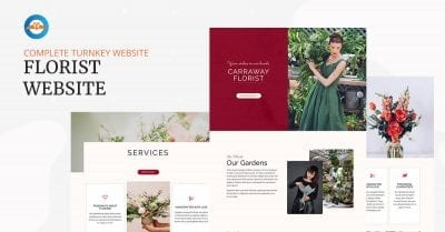 Florist or flower shop business website