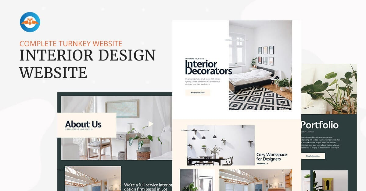 Interior design business website