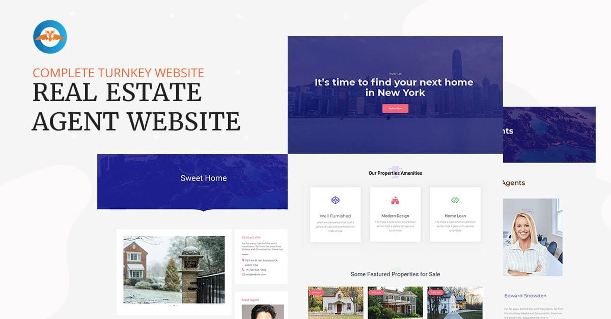 Real estate agent business website