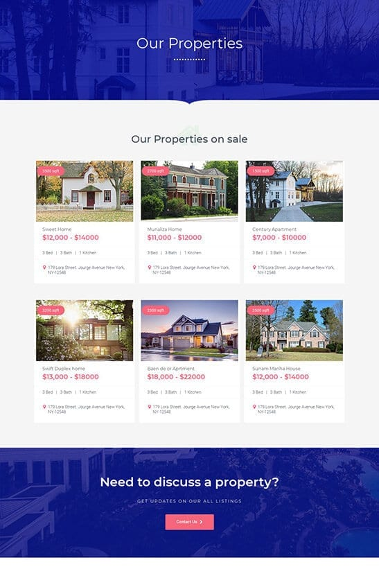 Property listing archive