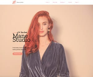 Beauty salon business website