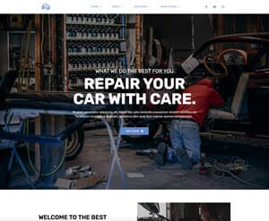 Car Mechanic business website