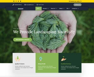 Garden maintenance website