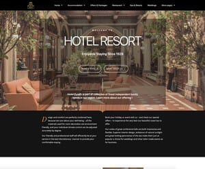 Hotel - resort website