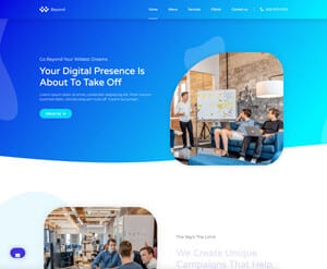 Agency web design business website