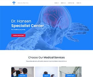 Medical practice business website