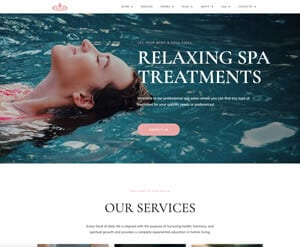 Spa - Beauty business website