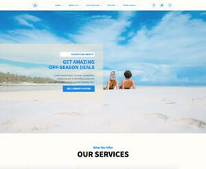 Travel Agency business website
