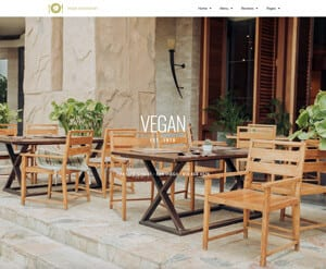 Vegan Restaurant website